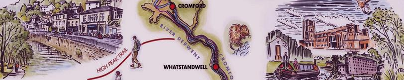 Closeup of of Derwent Valley map
