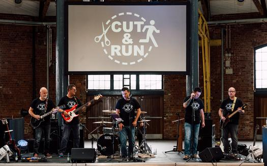 Cut & Run perform in 2018 at the Roundhouse, Derby.