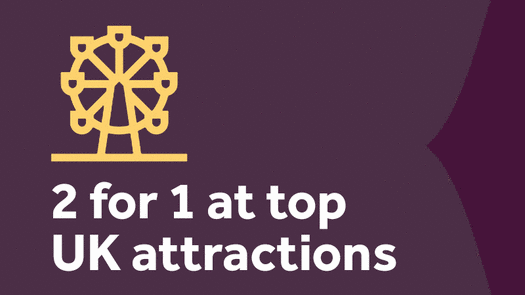 2for1 Top UK Attractions Homepage banner